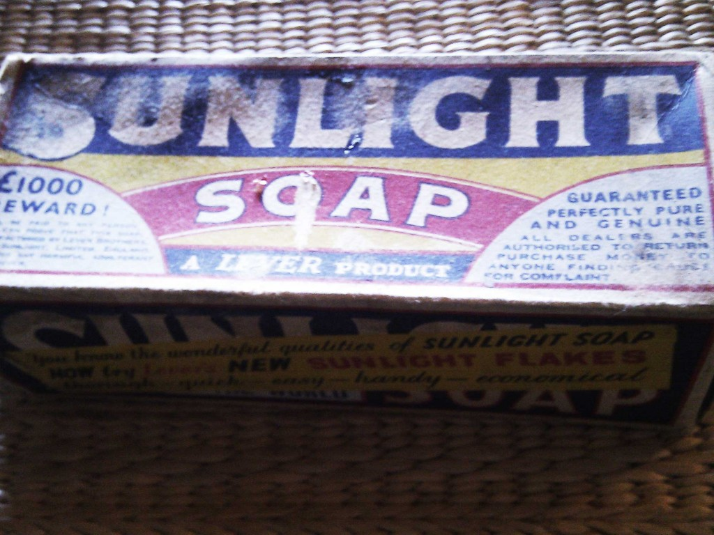 Sunlight soap and £1000 reward