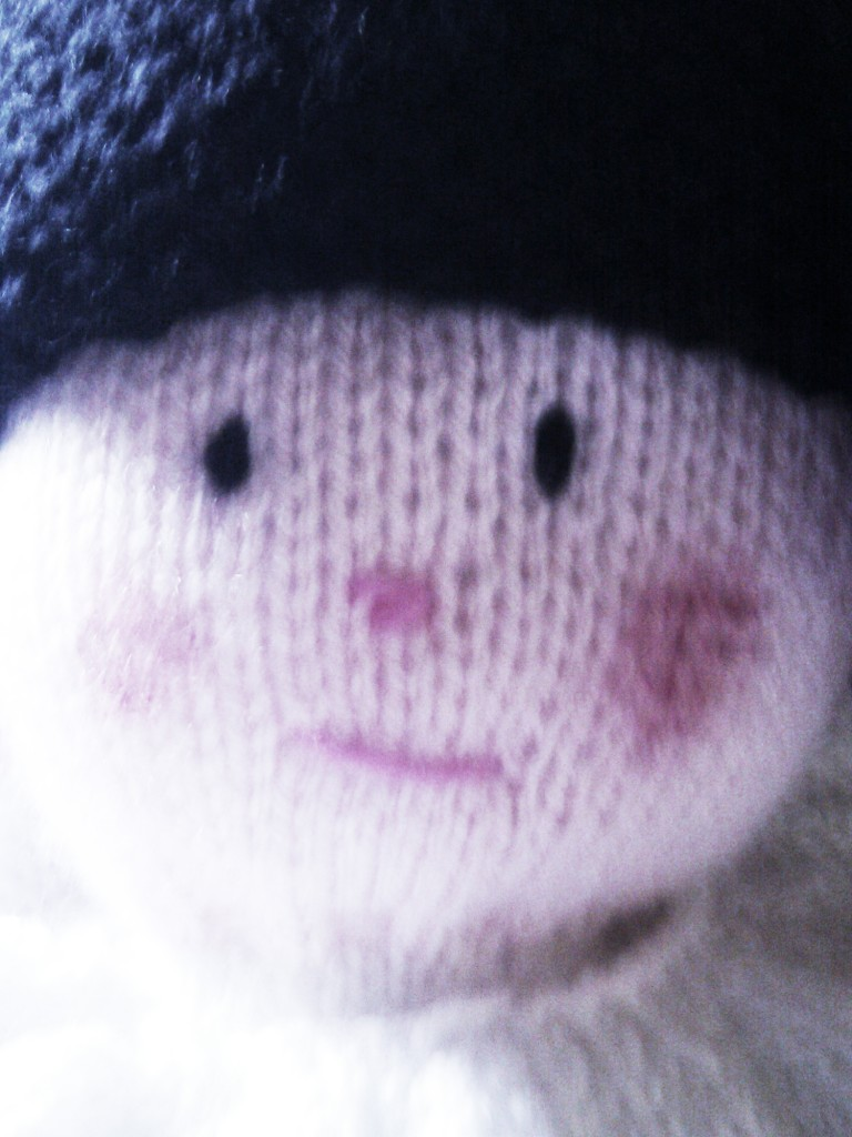 Sad little knit face