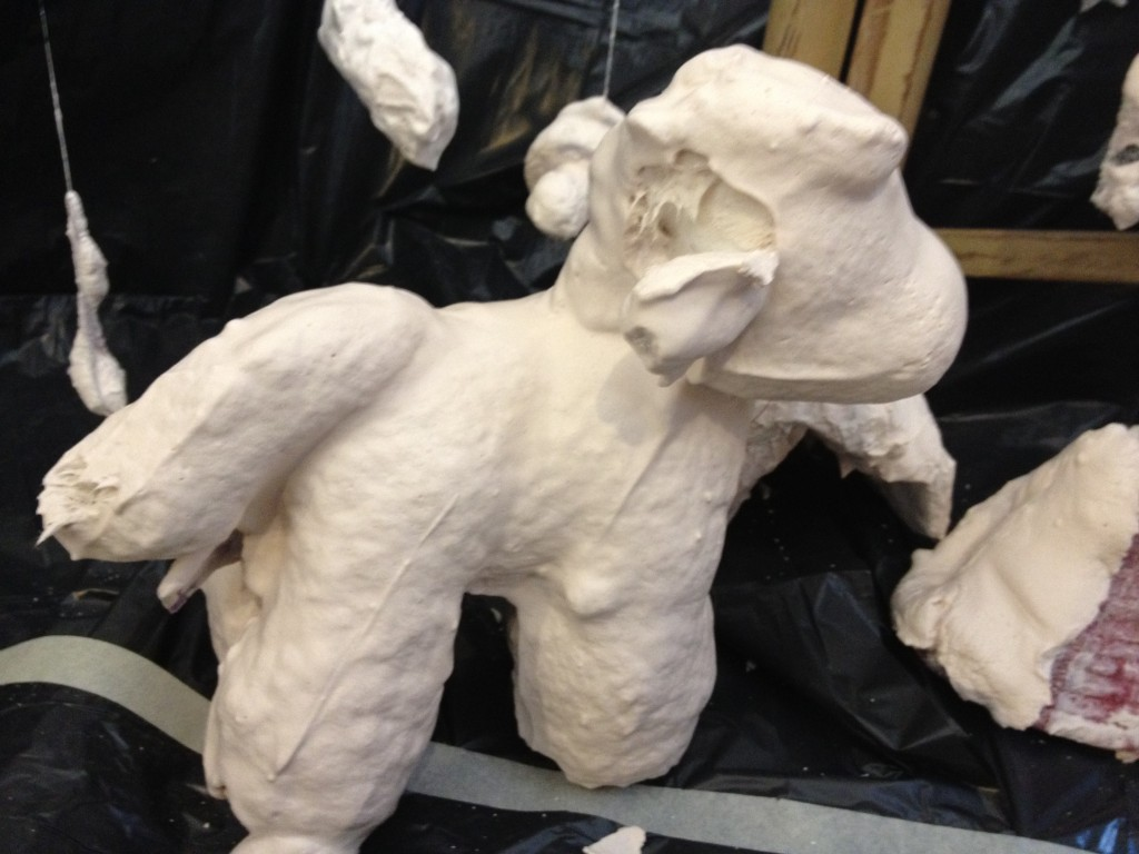 Ever wondered what a toy unicorn dipped in plaster of paris looks like
