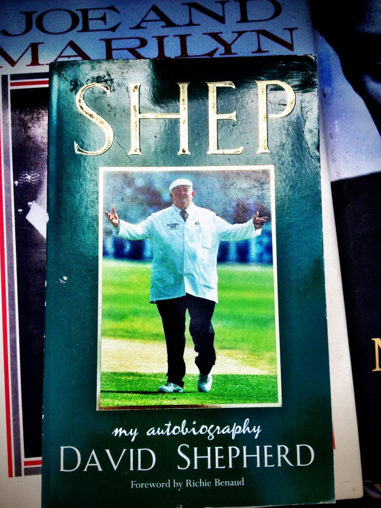 Shep, my autiobiography. I have no clue who David Shepherd is but from his attire, I'm going to assume that he is some sort of famous butcher.